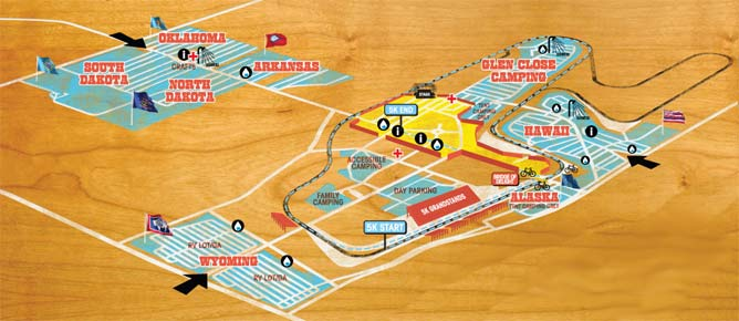 Official Super Ball IX Phish Festival Layout Map