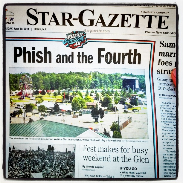 Phish in the paper.